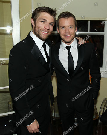 """Liam McIntyre, left, and Todd Lasance pose together at the after party for the premiere of """"Spartacus: War of the Damned"""" on in Los Angeles. """"Spartacus: War of the Damned"""" premieres Friday, Jan. 25 at 9PM on STARZ"""