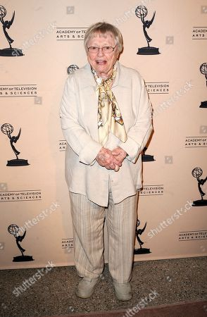 """JANUARY 31: Actor Pat Carroll arrives at the Academy of Television Arts & Sciences Presents """"Retire From Showbiz? No Thanks!"""" at the Academy of Television Arts & Sciences on in North Hollywood, California"""