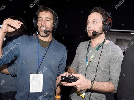 Igor Manceau, Creative Director, left, and Jonathan Sadowski at Ubisoft E3 2016 - Day 3 at the Los Angeles Convention Center, in Los Angeles