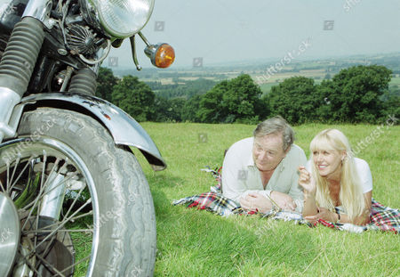 Ep 2256 Tuesday 16th September 1997 Jo arrives at The Woolpack on her motorbike to whisk landlord Alan away for a camping break and there's only one tent - With Alan Turner, as played by Richard Thorp ; Jo Steadman, as played by Julie Peasgood.