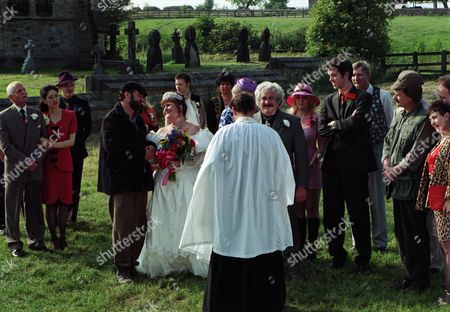 Ep 2254 Wednesday 10th September 1997 Betty tells a reluctant Zak he's got to go to the church and stop the wedding between Albert and Lisa otherwise he and Lisa may regret it for the rest of their lives. Dashing to the church Zak professes his love for Lisa and the whole congregation cheers. Reverend Ashley decides to bless the relationship outside - With Betty Eagleton, as played by Paula Tilbrook ; Eric Pollard, as played by Christopher Chittell ; Dee de la Cruz, as played by Claudia Malkovich; Lisa Clegg, as played by Jane Cox ; Zak Dingle, as played by Steve Halliwell ; Albert Dingle, as played by Bobby Knutt ; Marlon Dingle, as played by Mark Charnock ; Rev Ashley Thomas, as played by John Middleton ; Barry Clegg, as played by Bernard Wrigley.
