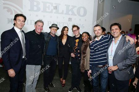 Producer Peter Safran, John C. McGinley, Michael Rooker, Adria Arjona, Writer/Producer James Gunn, Gail Bean, Sean Gunn and Jonathan Glickman seen at 'The Belko Experiment' Trailer Unveiling, in Los Angeles, CA