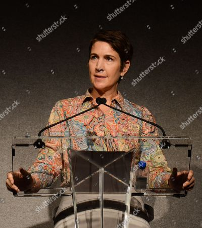 Heather Cochran, Television Academy CFO & EVP Of Business Operations, attends the Television Academy's 66th Emmy® Awards Governors Ball Sneak Peek Press Preview on at the Leonard H. Goldenson Theater in the NoHo Arts District in Los Angeles