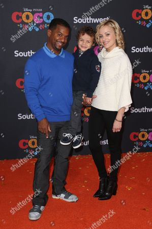 Stock Picture of Alfonso Ribeiro, Alfonso Lincoln Ribeiro,Jr., Angela Unkrich