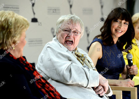 """JANUARY 31: (L-R) Actors Kaye Ballard, Pat Carroll,and Illeana Douglas participate in the Academy of Television Arts & Sciences Presents """"Retire From Showbiz? No Thanks!"""" panel at the Academy of Television Arts & Sciences on in North Hollywood, California"""