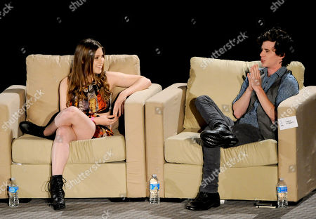 """MARCH 26: (L-R) Actors Eden Sher and Charlie McDermott participate in the Academy of Television Arts & Sciences Presents an Evening with """"The Middle"""" panel on in North Hollywood, California"""