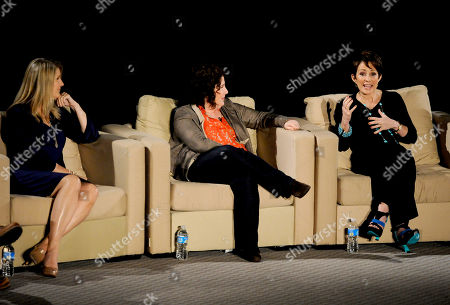 """Stock Photo of MARCH 26: (L-R) Creators/executive producers DeAnn Heline and Eileen Heisler and actor Patricia Heaton participate in the Academy of Television Arts & Sciences Presents an Evening with """"The Middle"""" panel on in North Hollywood, California"""