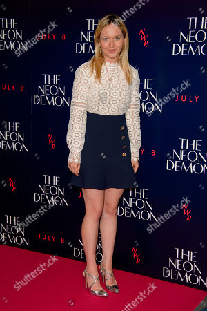 Stock Picture of Camilla Elphick poses for photographers upon arrival at the UK premiere of the film 'The Neon Demon' at a central London cinema, London