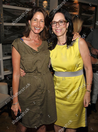 Sony's Dawn Steinberg, left, poses with Jane Kaczmarek after Bryan Cranston received a star on the Hollywood Walk of Fame on in Los Angeles