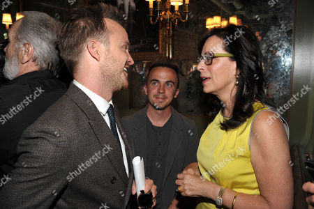 Aaron Paul, Frankie Muniz, and Jane Kaczmarek appear at Bryan Cranston's star ceremony on the Hollywood Walk of Fame on in Los Angeles