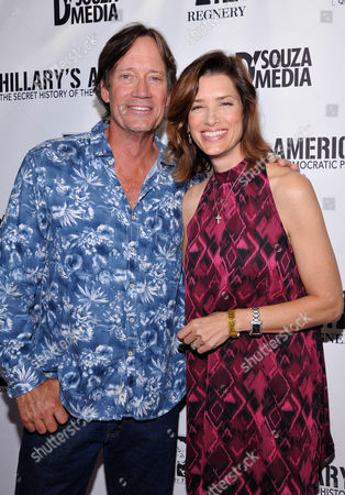 """Kevin Sorbo and Sandra Lynn Sorbo seen at D'Souza Media Premiere of """"Hillary's America"""", in Los Angeles, CA"""