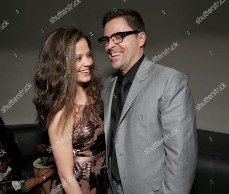 "Sarah Jeffery and Kavan Smith attend the after party for the LA premiere of ""Rogue"" at the ArcLight Hollywood on in Los Angeles"