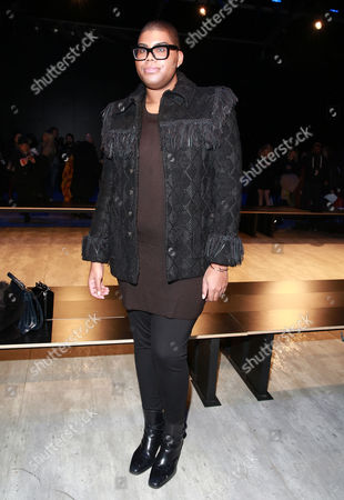 Earvin Johnson III seen at the Charlotte Ronson fashion show during Mercedes-Benz Fashion Week Fall 2015 at The Pavilion at Lincoln Center on in New York