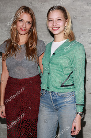 Designer Charlotte Ronson and Annabelle Dexter-Jones seen at the Charlotte Ronson fashion show during Mercedes-Benz Fashion Week Fall 2015 at The Pavilion at Lincoln Center on in New York