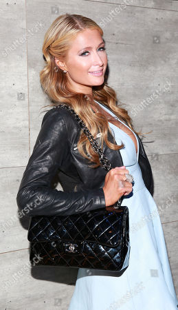 Paris Hilton attends the Charlotte Ronson Fall 2015 show during Fashion Week on in New York