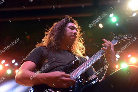 Phil Manansala of Of Mice and Men performs, at The Tabernacle, in Atlanta