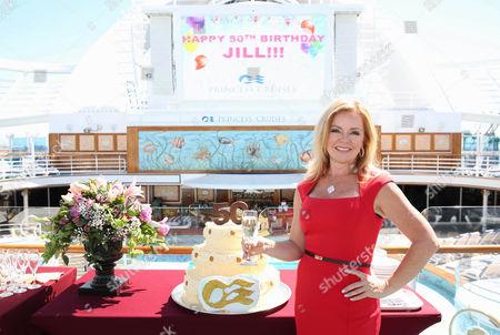 Princess Cruises' Celebrations Ambassador and actress Jill Whelan celebrates her 50th birthday aboard Ruby Princess on in Los Angeles