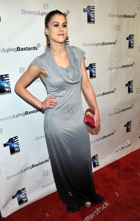 "Actress Lindsey Shaw poses at a special screening of the film ""Greedy Lying Bastards"" at Harmony Gold on in Los Angeles"