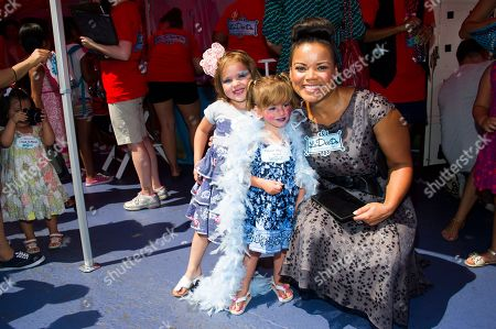 "Kimberley Locke and friends attend the ""La Dee Da"" launch party hosted by Spin Master Ltd. on in New York City's Times Square"