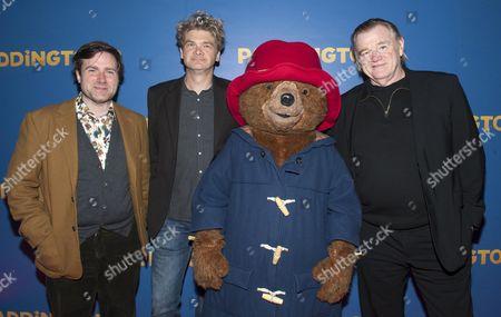 Paul King, Simon Farnaby and Brendan Gleeson with Paddington