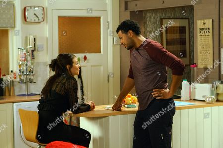 Ep 9313 Wednesday 29th November 2017 - 2nd Ep Kate Connor, as played by Faye Brookes, breaks down and admits to Luke Britton, as played by Dean Fagan, that she doesn't want to move to Spain but it's killing her being around Rana.