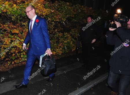 Stock Picture of Alex Sawyer, husband of Priti Patel, leaving their South East London home