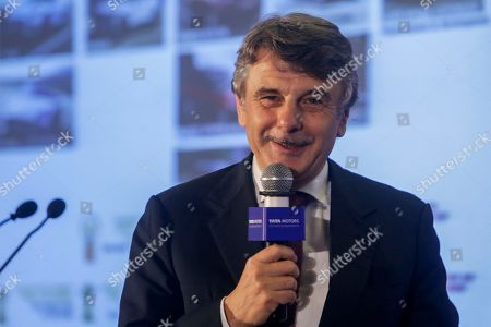 Jaguar Land Rover CEO Ralf Speth interacts with media as during the announcement of Tata Motors' second quarter financial results in Mumbai, India