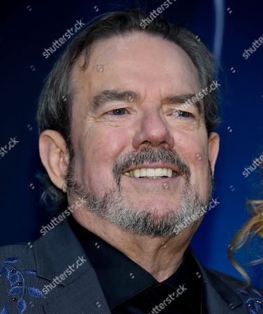 Stock Picture of Songwriter and musician Jimmy Webb speaks in the press room at the 51st annual CMA Awards at the Bridgestone Arena, in Nashville, Tenn