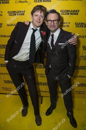 Kris Marshall (John Williamson) and Christian Slater (Ricky Roma)