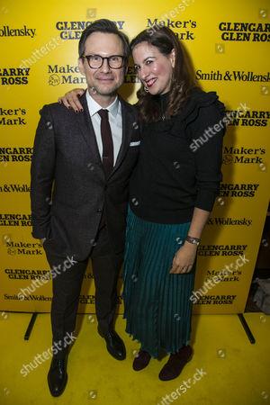 Stock Image of Christian Slater (Ricky Roma) and Becky Barber (Producer)
