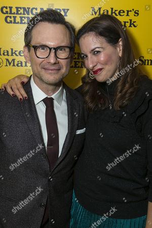 Stock Photo of Christian Slater (Ricky Roma) and Becky Barber (Producer)