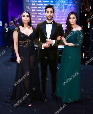 Sami Slimani mit Geschwister Lamiya (l) and Dounia (r)