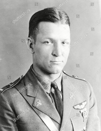 Stock Photo of In this handout from the U.S. Air Force, Brig. Gen. Kenneth N. Walker of Glendale, Calif., is shown in this undated photo. Nearly 75 years after his father disappeared during a bombing mission over a remote Pacific island, Douglas Walker, the son of the highest-ranking recipient of the Medal of Honor still listed as missing from World War II, is pushing for renewed interest in finding the crash site and the remains of the crew