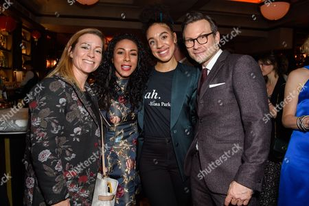 Kathryn Drysdale, Pearl Mackie and Christian Slater