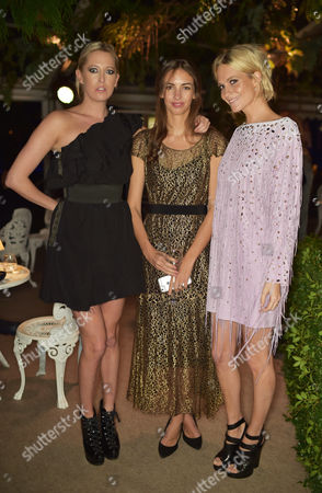 Sophia Hesketh, Rose Cholmondeley and Poppy Delevingne