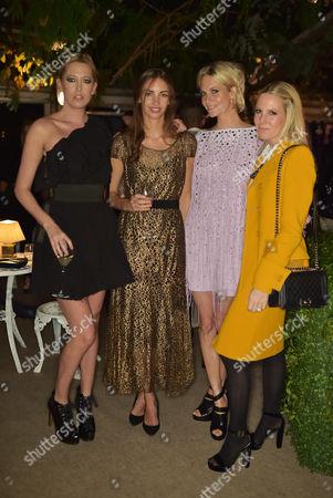 Sophia Hesketh, Rose Cholmondeley, Poppy Delevingne and Alice Naylor-Leyland