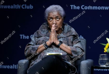 Former Democratic National Committee chair Donna Brazile speaks during a meeting of The Commonwealth Club, in San Francisco