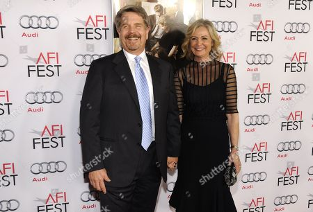 """John Wells and Marilyn Wells arrive on the red carpet at the 2013 AFI Fest premiere of """"August: Osage County"""" at the TCL Chinese Theatre on in Los Angeles"""
