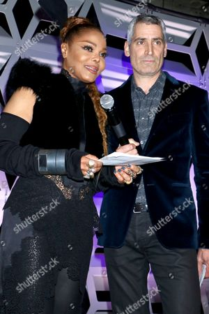 Janet Jackson and Aaron Hicklin (Editor; OUT Magazine)