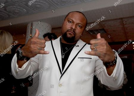 Music Producer Damon Elliott is seen at a NFL Players, Announce Players Authority BFI and DRE Ent Three Day Event During Super Bowl 2015 at Celebrity Charity Event at Couture Customs, on Thursday, February, 28, 2013 in Scottsdale, Ariz