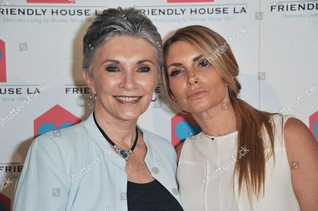 Beverly Sassoon, left, and Eden Sassoon arrive at the Friendly House Los Angeles' 24th Annual Awards Luncheon at the Beverly Hilton Hotel on in Los Angeles