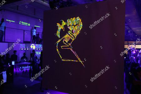 Stock Image of Atmosphere at the Hennessy V.S. launches limited edition bottle with Ryan McGinness event at Highline Stages, on in New York