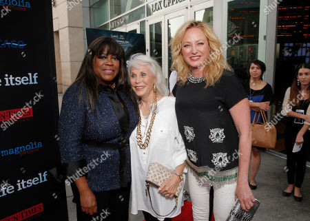"""Chaz Ebert, Elaine Madsen and Virginia Madsen attend Magnolia Pictures' Los Angeles Premiere of """"Life Itself"""" at the ArcLight Hollywood on in Hollywood, California"""