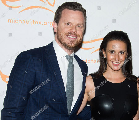 """Willie Geist and Christina Geist attend The Michael J. Fox Foundation for Parkinsonâ?™s Research benefit, """"A Funny Thing Happened on the Way to Cure Parkinsonâ?™s,"""" at the Waldorf Astoria, in New York"""