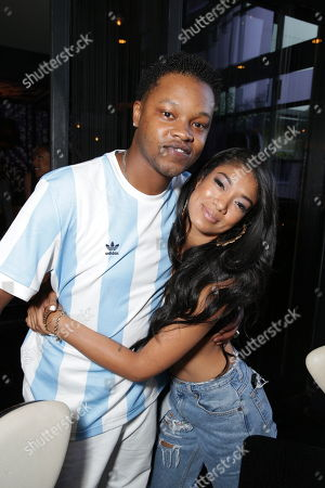 BJ the Chicago Kid and Mila J seen at the Motown Celebrates The BET Awards dinner at STK, in Los Angeles, CA