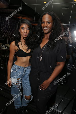 Mila J seen and Ethiopia Habtemariam, SVP of Motown Records at the Motown Celebrates The BET Awards dinner at STK, in Los Angeles, CA