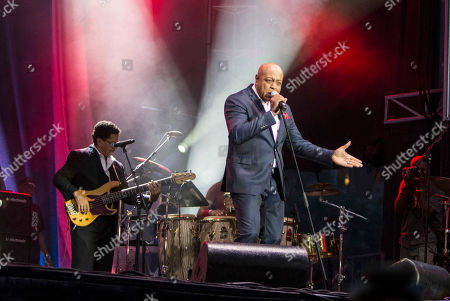 Peabo Bryson performs during the Centennial Olympic Park's 4th of July Celebration at Centennial Olympic Park, in Atlanta