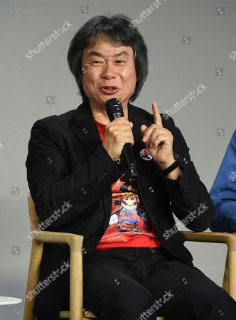 Editorial photo of Shigeru Miyamoto Appearance at Apple SoHo Store, New York, USA - 8 Dec 2016