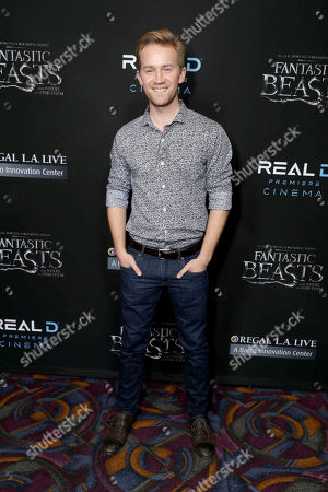 """Jason Dolley seen at Warner Bros' """"Fantastic Beasts and Where to Find Them"""" Los Angeles Screening at Regal LA, in Los Angeles"""