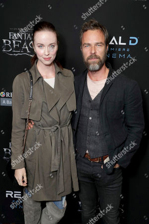 "Stock Image of Elyse Levesque and J. R. Bourne seen at Warner Bros' ""Fantastic Beasts and Where to Find Them"" Los Angeles Screening at Regal LA, in Los Angeles"